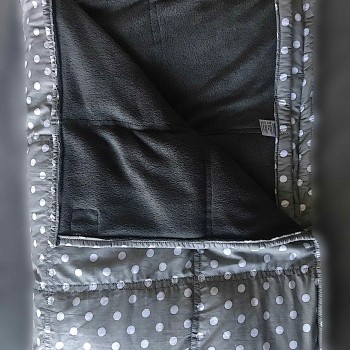 Matt Grey Polka dots - Top view